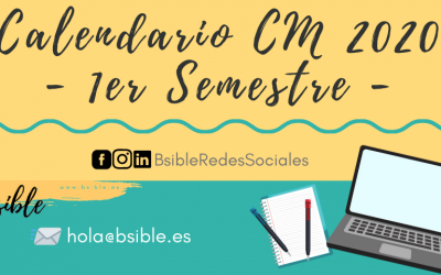 Calendario Community Manager 2020 1º Semestre