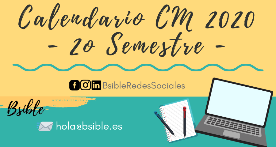 Calendario Community Manager 2020 2º Semestre